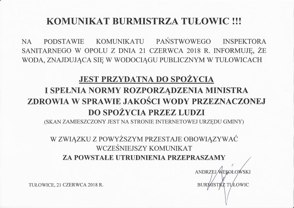 Komunikat Burmistrza Tułowic z dnia 21.06.2018 r.jpeg