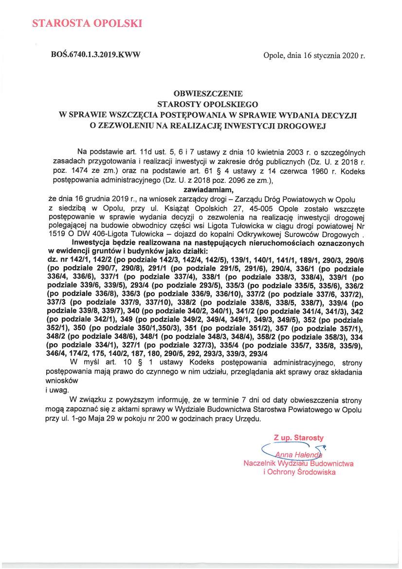 Obwieszczenie Starosty Opolskiego z dnia 16.01.2020 r.jpeg