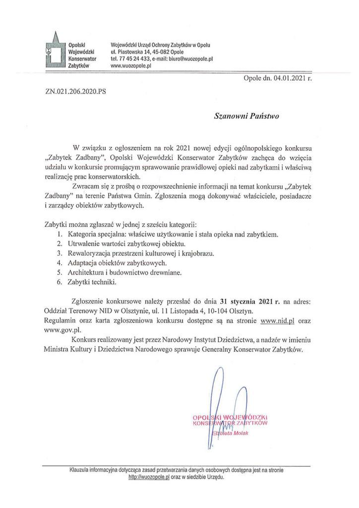 Nowa edycja ogólnopolskiego konkursu Zabytek Zadbany.jpeg