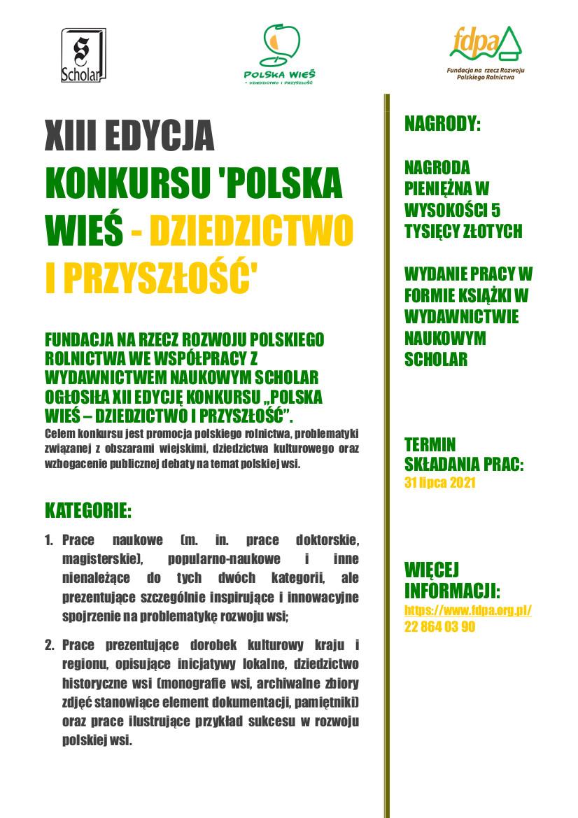 XIX Edycja Konkursu Polska Wieś - Dziedzictwo i Przyszłość.jpeg