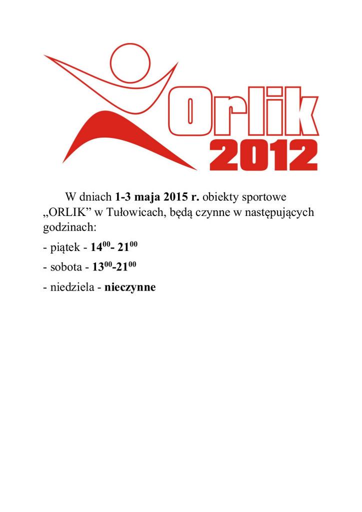 Weekend majowy - godziny otwarcia Orlika.jpeg