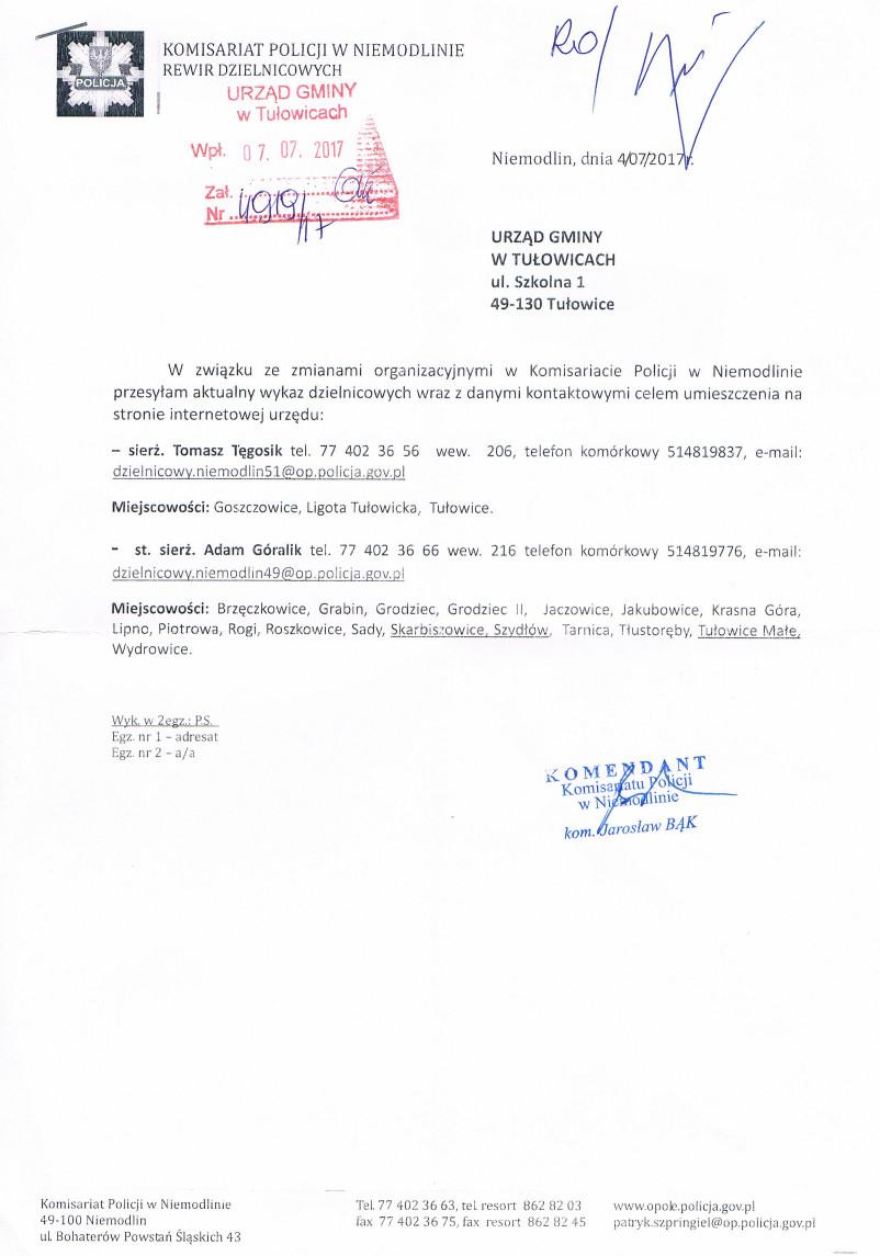 Komunikat Komisariatu Policji w Niemodlinie z dnia 04.07.2017 r.jpeg