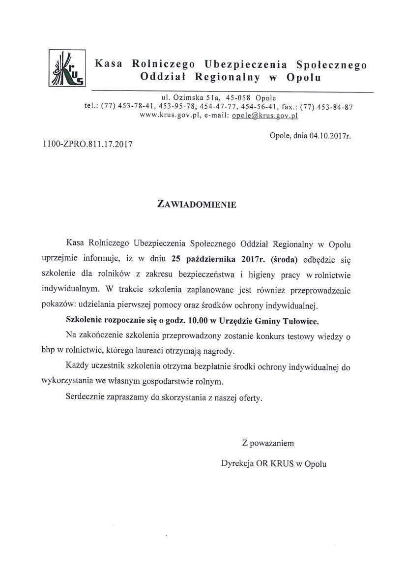 Zawiadomienie KRUS z dnia 04.10.2017 r.jpeg