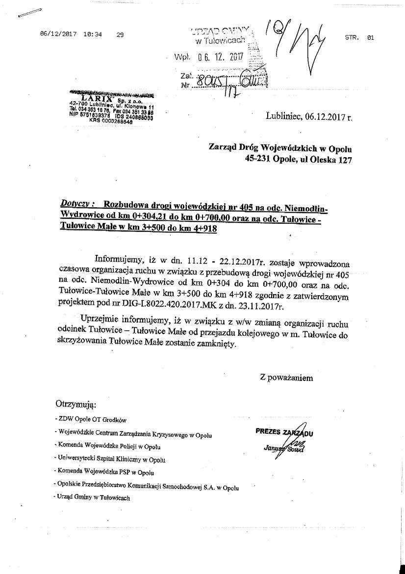 Rozbudowa drogi wojewódzkiej nr 405 Tulowice - Tułowice Małe.jpeg