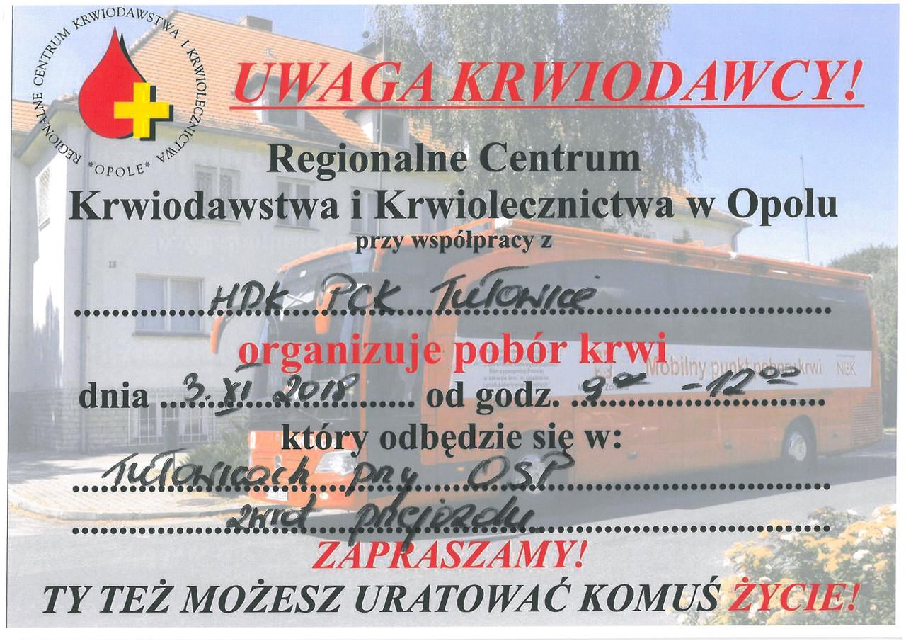 Komunikat Regionalnego Centrum Krwiodawstwa i Krwiolecznictwa z dnia 25.10.2018 r.jpeg