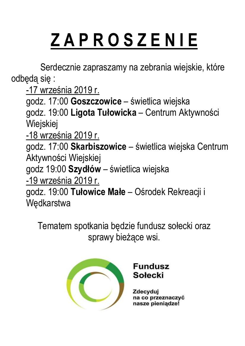 Zaproszenia na zebrania wiejskie - 17.09-19.09.2019 r.jpeg