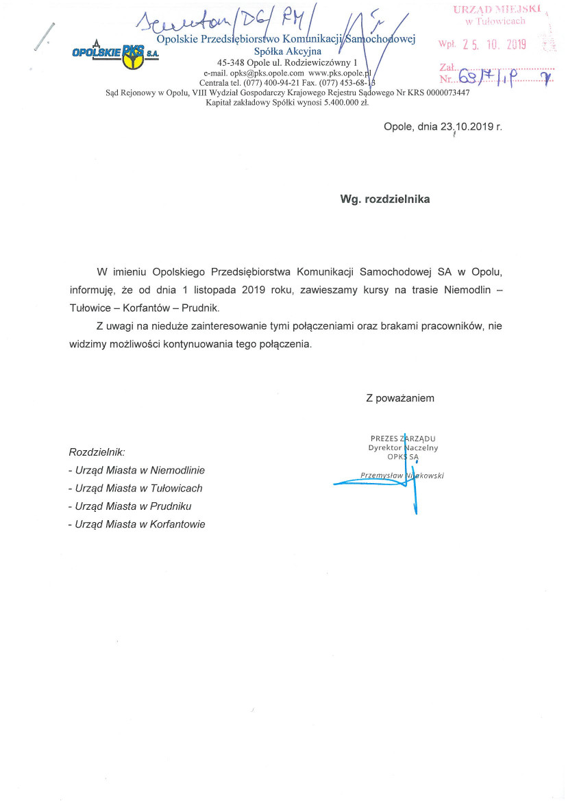 Pismo Opolskiego Przedsiębiorstwa Komunikacji Samochodowej z dnia 23.10.2019 r.jpeg