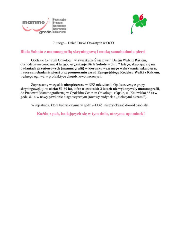 Biała sobota z mamografią skryningową i nauką samobadania piersi.jpeg