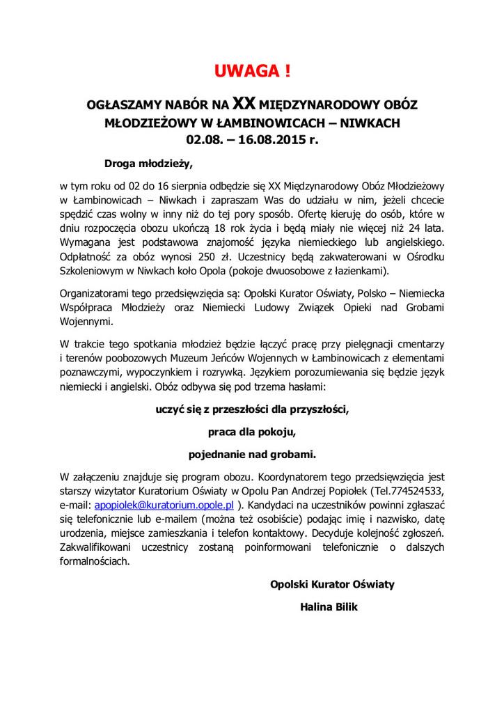XX Międzynarodowy obóz młodzieżowy w Łambinowicach - Niwkach.jpeg