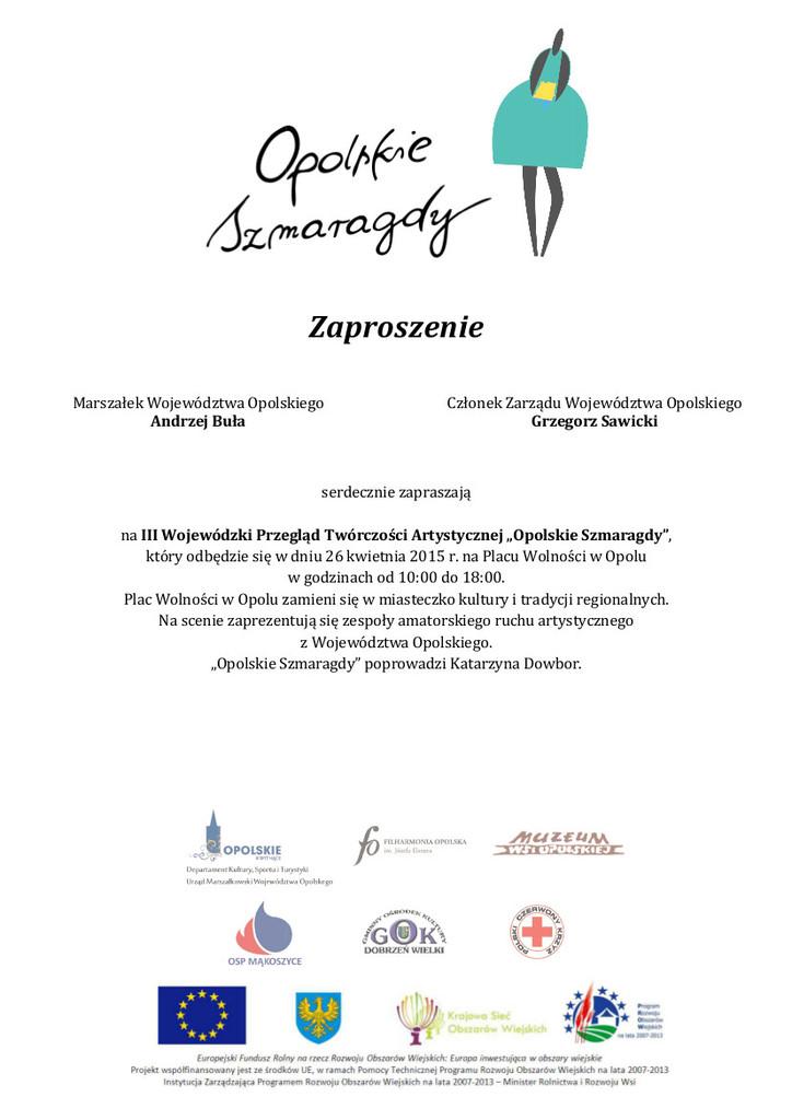 Zaproszenie na Opolskie Szmaragdy.jpeg